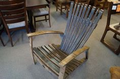 Jack Daniels Whiskey Barrel Seats/Chairs - Made from the authentic Jack Daniels whiskey barrel staves in weatherwood finish.