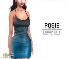 Posie Alaia Dress Free Group Gift. Alaia dress for mesh bodies, free group gift. Step into the Posie store when you land.