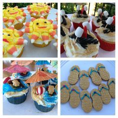Summer cupcakes and cookies. Summer treats. Summer desserts.