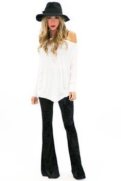 Zoe Velvet Bell Bottom Pants | Haute & Rebellious