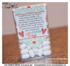 Tic Tac CUPID POOP POEM - Valentine's Day DIY Craft ~ Love ~ Printable tic tac labels that you attach to a pack of tic tacs! They make perfect Valentines, Anniversary or gifts for your special someone! Happy Valentine's Day!