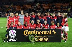 Arsenal Ladies Continental Cup Winners, 3rd year in a row !