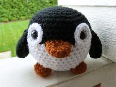 Made to Order-Louis the Penguin Crocheted Toy by CurlyTopCorner