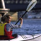 Kafé Kajak = a cafe + kayaks... need one of these