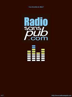 Radio sans pub– Vignette de la capture d'écran