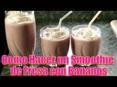 Smoothie de Fresa con Bananos | Casayfamiliatv ** Casayfamiliatv.com