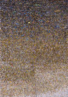 """Stella polare"" by Marco De Luca http://www.mosaicartnow.com/wp-content/uploads/2012/09/Marco_De_Luca_Stella_polare_2005_100x70cm.jpg"
