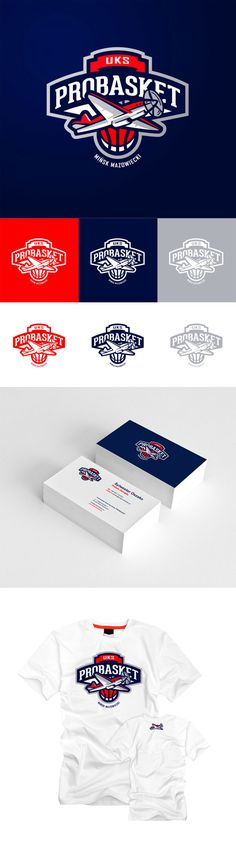 """UKD Probasket Minsk Mazowiecki"" - Awesome Sports Logo Designs by Kamil Doliwa 