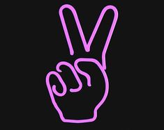 Peace Sign LED Light | Neon sign bedroom, Neon signs, Neon ...