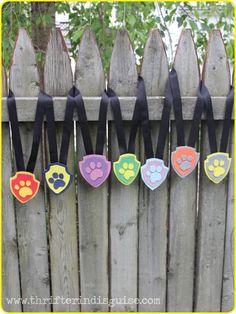 Paw Patrol Ideas for Kids Presents Paw Patrol Birthday Theme, Paw Patrol Party, 4th Birthday Parties, Diy Birthday, Paw Patrol Dog Costume, Paw Print Crafts, Paw Patrol Badge, Cumple Paw Patrol, Paw Patrol Invitations