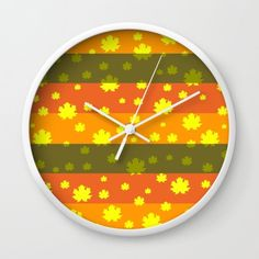 #leaves #clock #homedecor #decorating #autumn #sale 10% off + #freeshipping today. https://society6.com/product/golden-autumn-leaves-24x_wall-clock#s6-4815285p33a33v283a34v285