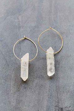 Cosmic Dreams Crystal Hoop Earring by Urban Outfitters.