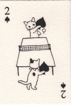 Two of Spades ~ Japanese playing card.