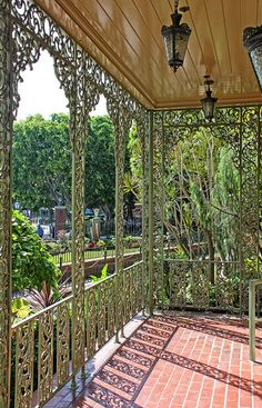 Haunted Mansion Veranda - Disneyland