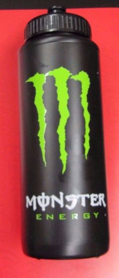 Monster Energy Drink Black Water Bottle | eBay
