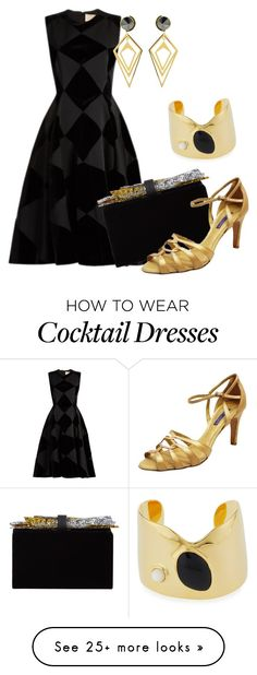 """""""G7 Spouse Cocktail Evening"""" by apinkkiwi on Polyvore featuring Roksanda, Edie Parker, Lizzie Fortunato, Ralph Lauren and Sarah Magid"""