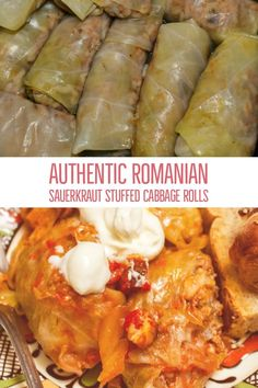 Authentic Romanian Sauerkraut Stuffed Cabbage Rolls- a great recipe for feeding a crowd, take it to potlucks and family reunions. This recipe will walk you step by step on how to make these delicious Cabbage Rolls Polish, Polish Stuffed Cabbage, Stuffed Cabbage Recipes, Hungarian Stuffed Cabbage Rolls Recipe, Romanian Cabbage Rolls Recipe, Recipe For Cabbage Rolls, Sicilian Recipes, Hungarian Recipes, Romanian Recipes
