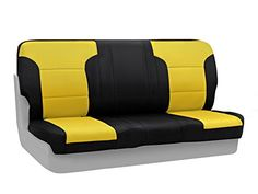 Coverking Custom Fit Rear Bench Seat Cover for Select Chevrolet Camaro Models - Neoprene (Yellow with Black Sides) - http://musclecarheaven.net/?product=coverking-custom-fit-rear-bench-seat-cover-for-select-chevrolet-camaro-models-neoprene-yellow-with-black-sides