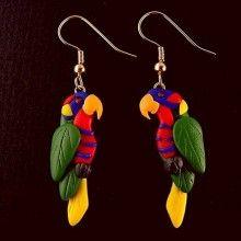 Custom Polymer Clay Earrings with One Animal Design