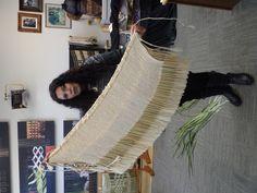 Anahera (Alixene) and one of her korowai (Te Manawa)