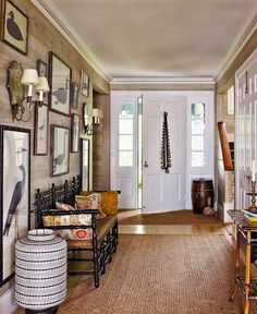 High Street Market: Current Inspiration: Tom Sheerer | gallery wall arrangement, various area rugs