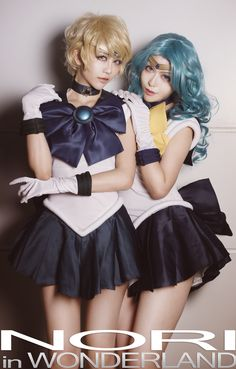 在月球城遇到偽娘 - NORI in WONDERLAND(NORI) Sailor Uranus, Sailor Neptune Cosplay Photo - Cure WorldCosplay
