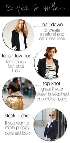 ways to wear your hair with a blazer
