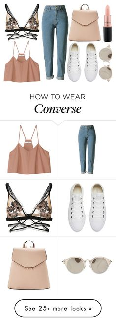 """The Prettiest Underpinnings"" by misskali on Polyvore featuring Converse, For Love & Lemons, MANGO, TIBI, Miu Miu, MAC Cosmetics and prettyunderpinnings"