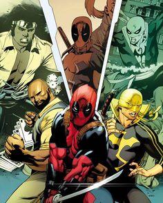 This team up in Deadpool issue 13 Cover by FRANCISCO HERRERA  #captainamericacivilwar #marvelcomics #Comics #comicbooks #avengers #ageofultron #marvel  #captainAmerica #Ironman #thor #hulk #hawkeye #blackwidow #spiderman #vision #scarletwitch #civilwar #spiderman #infinitygauntlet #blackpanther #deadpool #wolverine #daredevil #falcon #wintersoldier #warhammer #uncannyavengers #teamironman #teamcap #ironfist #lukecage http://ift.tt/1T5Epmp