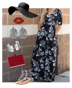 """Agnes & Dora Austen dress in Black Rose Garden"" by adbybobbiejo on Polyvore featuring Mystique, Lime Crime, Alex Monroe, Dinh Van and Valentino"