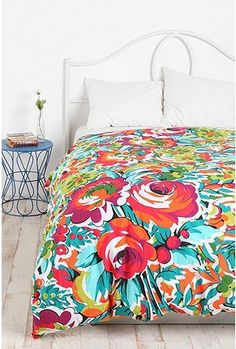 UrbanOutfitters.com > Bouquet Duvet Cover--Gorgeous! Maybe if I ever have a guest bedroom...