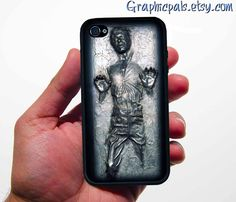 iphone 4 4s case Han in Carbonite GEEKERY by Graphicpals on Etsy, $15.00