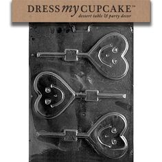 Dress My Cupcake DMCV071 Chocolate Candy Mold Happy Heart Lollipop Valentines Day ** Be sure to check out this awesome product.
