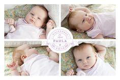 Geburtskarte Logo 4 Fotos Lang by Tomoë für Rosemood.de #Babykarte #Geburt