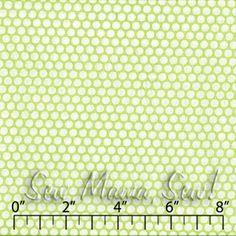 Honeycomb Dot Lime ~ Kei @Sew, Mama, Sew!