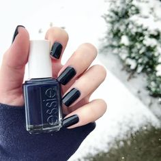 Slip into this blue-black nail polish 'after school boy blazer' by essie -- a chic must-have of the season! Get your hands on it here: http://www.essie.com/Colors/blues/after-school-boy-blazer.aspx