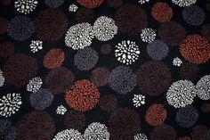 NB 15/16 7389-056 Tricot fantasie bollen zwart/bruin/terra