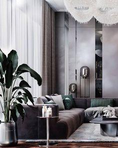 Best Interior Design, Luxury Interior, Interior Design Inspiration, Interior Design Living Room, Living Room Designs, Elegant Living Room, Living Room Modern, Living Area, Living Rooms