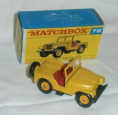 1960s.lesney.Matchbox.72.Standard.JEEP..Mint in F Type box.all original #Matchbox