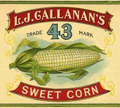 Vintage Can Labels - L. Vintage Labels, Vintage Signs, Fine Art Prints, Framed Prints, Canvas Prints, Steampunk Coffee, Sweet Corn, 500 Piece Jigsaw Puzzles, Fine Art Paper