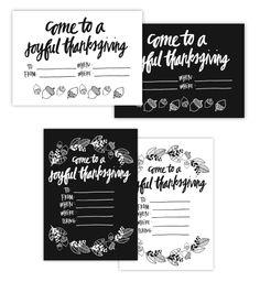 Printable Woodland Thanksgiving Set from Caravan Shoppe