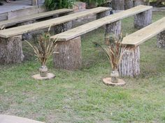 Country wedding seating