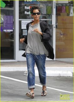 Halle's casual style