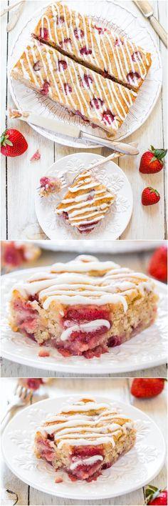 Soft & Fluffy Strawberry Banana Cake #vegan #strawberry #cake
