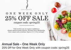via @calivirgin_olive_oil: Use Coupon Code: spring25 .at checkout to take off 25%  Ends on 4/11/16. Excludes our Gift of Membership.  Visit www.CALIVIRGIN.com