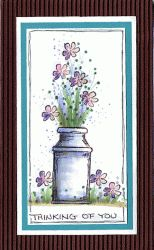 Milk Can Flowers Card
