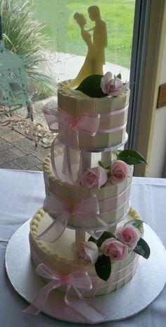 chocolate shards wedding cake  Cake by elisabethscakes