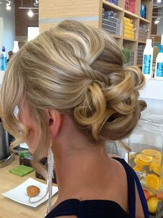 Prom hair style or wedding style by Carla Makowski of Andreas Hogue Salon