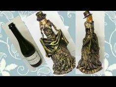 Glass Bottle Crafts, Wine Bottle Art, Glass Bottles, Wire Crafts, Fun Crafts, Decoupage Jars, Diy Glasses, Pinterest Diy Crafts, Bottle House
