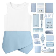 """caught in a blue"" by embrxce ❤ liked on Polyvore featuring Monki, Vans, Rosenthal, Laura Ashley, Isaac Mizrahi, Ice-Watch, Aveda, Pré de Provence, Johnstons and Goody"